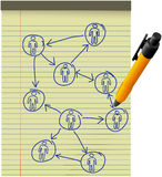network-plan-human-resources-diagram-legal-pad-pen-17977535